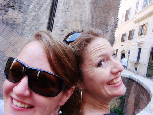 traveling with a sister, international travel, sister's birthday, Roman Forum, Rome